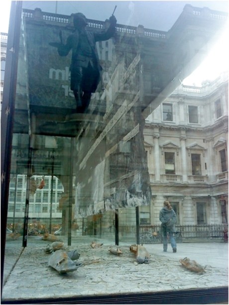 Sir Joshua Reynolds Reflected In The Giant Vitrine, 2014 by David Cook