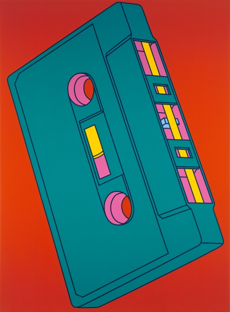 Michael Craig-Martin; Cassette, 2002; Acrylic on canvas; © Michael-Craig Martin; Courtesy of Gagosian Gallery