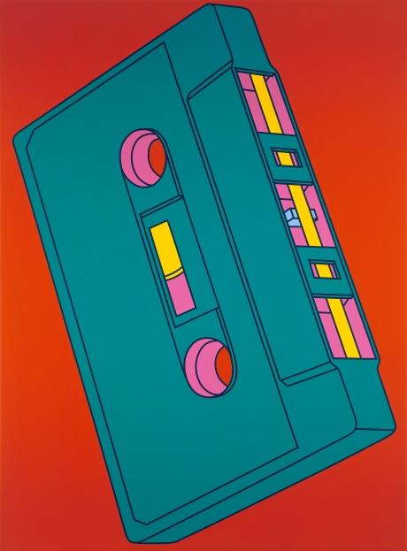 Michael Craig-Martin; Cassette, 2002; Acrylic on canvas; © Michael-Craig Martin; Courtesy of Gagosian Gallery