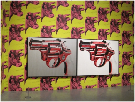 Warhol installation view by David Cook