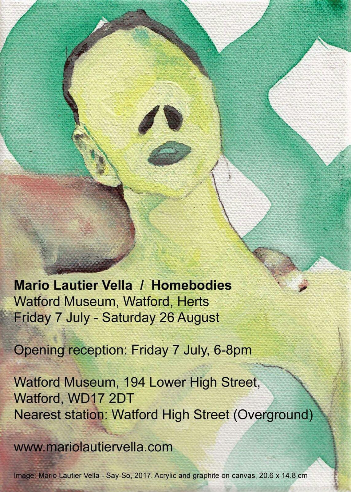 Mario Lautier Vella Exhibition Poster
