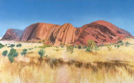 Andrews, Michael, 1928-1995; The Cathedral, The Southern Faces/Uluru (Ayers Rock)