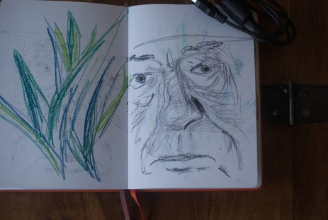 Sketchbook (Gambon detail)